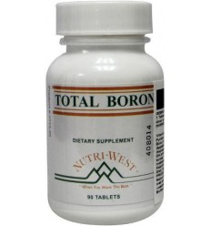 Nutri West Total boron 90 tabletten | Superfoodstore.nl