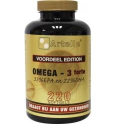 Artelle Omega 3 forte 1000 mg 220 capsules | Superfoodstore.nl