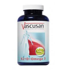 Vascusan K2 vitamine D omega 3 60 capsules | Superfoodstore.nl