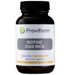 Proviform Biotine 2500 mcg 100 vcaps | Superfoodstore.nl