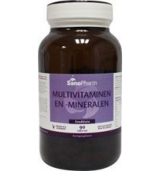 Sanopharm Multivitaminen/mineralen foodstate 90 tabletten |