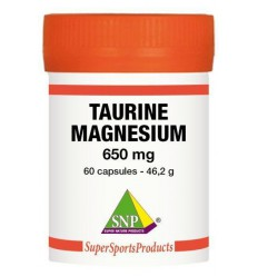 SNP Taurine 325 mg Magnesium 325 mg - Puur 60 capsules | € 30.94 | Superfoodstore.nl