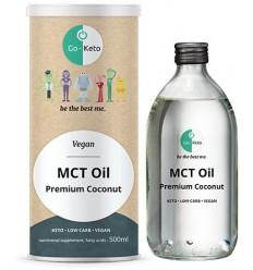 Go-Keto MCT olie premium blend 60 C8/40 C10 500 ml |