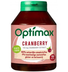 Optimax Cranberry 150 capsules | € 24.43 | Superfoodstore.nl