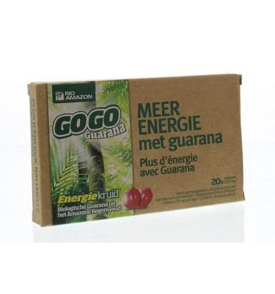 Fytotherapie Rio Amazon Gogo guarana 500 mg 10 dagen 20 capsules kopen