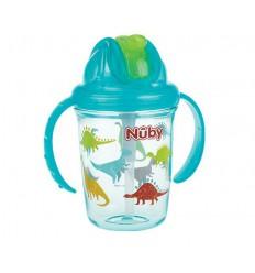 Nuby Antilekbeker 240 ml aqua 12 maanden + | Superfoodstore.nl
