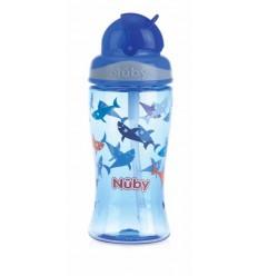 Nuby Flip it beker 360 ml blauw 3 jaar+ | Superfoodstore.nl