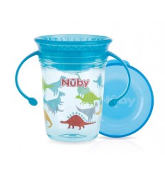 Nuby wonder cup 240ml 6m+ aqua   Superfoodstore.nl