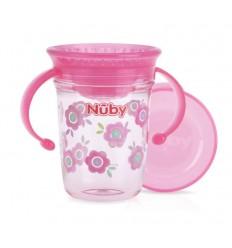 Nuby Wonder cup 240 ml roze 6 maanden+ | Superfoodstore.nl