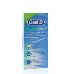 Oral B Floss super mint regular 50 stuks   Superfoodstore.nl