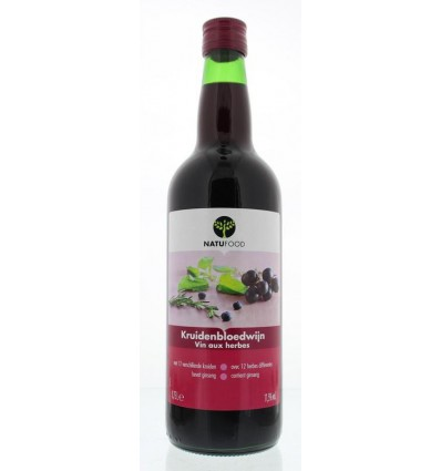Natufood Kruidenbloedwijn rood 750 ml