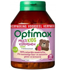 Optimax Kinder multivit extra 180 kauwtabletten |