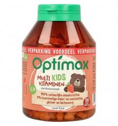 Optimax Kinder multi aardbei 180 kauwtabletten  