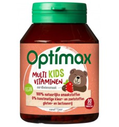 Optimax Kinder multi aardbei 90 kauwtabletten |