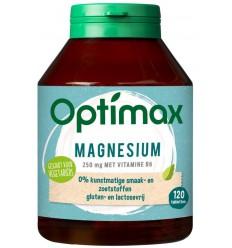 Optimax magnesium citraat 250 mg + vit B6 120 tabletten |