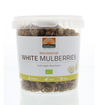 Moerbijen Mattisson Absolute white mulberries raw 300 gram kopen