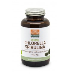 Mattisson Organic chlorella spirulina 500 mg 240 tabletten |