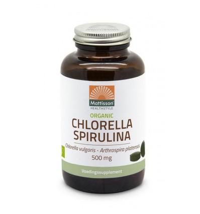 Chlorella Mattisson Organic spirulina 500 mg bio 240 tabletten kopen