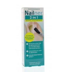 Nailner 2 in 1 brush 5 ml | Superfoodstore.nl