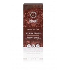 Khadi Haarkleur medium brown 100 gram | Superfoodstore.nl