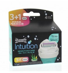 Wilkinson intuition sensitive care mesjes 4 stuks | € 11.95 | Superfoodstore.nl