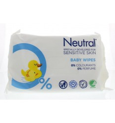 Neutral Baby doekjes 63 stuks | Superfoodstore.nl