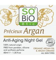 So Bio Eitc Argan AA night gel 40 ml | Superfoodstore.nl