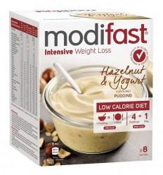 Modifast Intensive pudding hazelnoot & yoghurt 8 zakjes 416