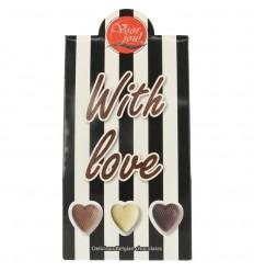 Voor Jou! Cadeau doos black & white with love 100 gram |