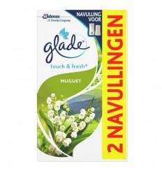 Glade BY Brise Touch & fresh navul muguet 10 ml 2 stuks |