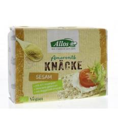 Allos Knackebrod sesam-amarant 250 gram | Superfoodstore.nl