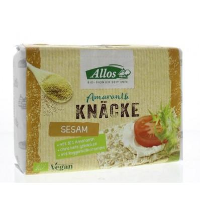 Crackers Allos Knackebrod sesam-amarant 250 gram kopen