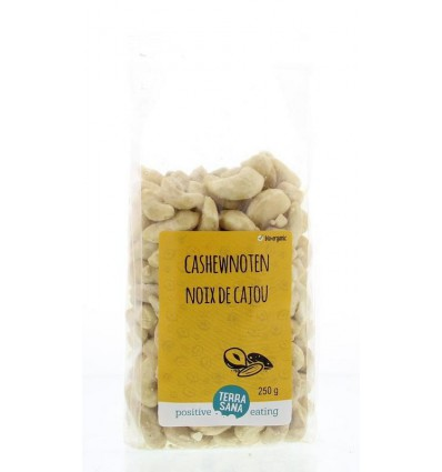 Cashewnoten Terrasana ongeroosterd zonder zout 250 gram kopen