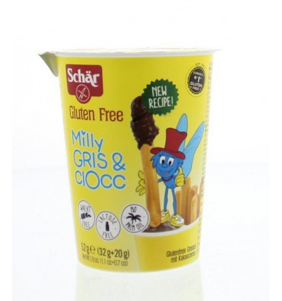 Schär Milly grissini & chocolate sticks 52 gram |