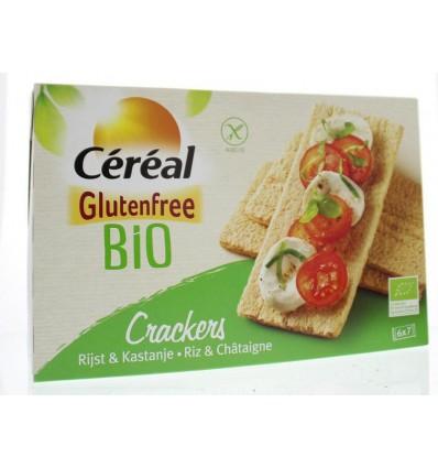 Crackers Cereal Cracker rijst kastanje 250 gram kopen