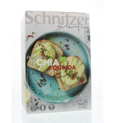 Chia zaad Schnitzer Brood chia & quinoa 500 gram kopen