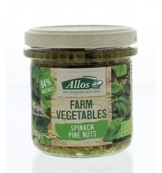 Allos Farm vegetables spinazie & pijnboompitten 135 gram |