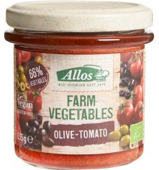 Allos Farm vegetables tomaat & olijf 135 gram |