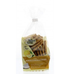 Billy'S Farm Kokos citroenkoekjes 175 gram | € 2.59 | Superfoodstore.nl
