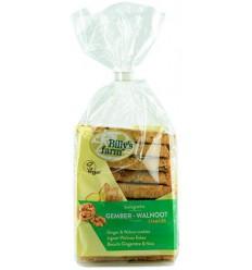 Billy'S Farm Gember walnootstaafjes 175 gram   Superfoodstore.nl