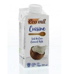 Ecomil Kokosmelk cuisine 200 ml | € 1.39 | Superfoodstore.nl