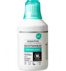 Mondwater Urtekram Mondwater sensitive strong mint 300 ml kopen