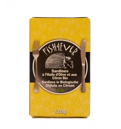 Conserven Fish 4 Ever Sardines olijfolie citroen 120 gram kopen