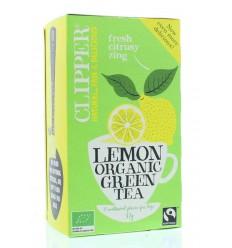 Clipper Green tea lemon 20 zakjes | Superfoodstore.nl