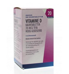 Teva Vitamine D 20 mcg 800IE 300 tabletten | € 7.61 | Superfoodstore.nl