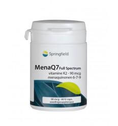 Springfield MenaQ7 Full Spectrum vitamine K2 90 mcg 60 vcaps | € 13.99 | Superfoodstore.nl
