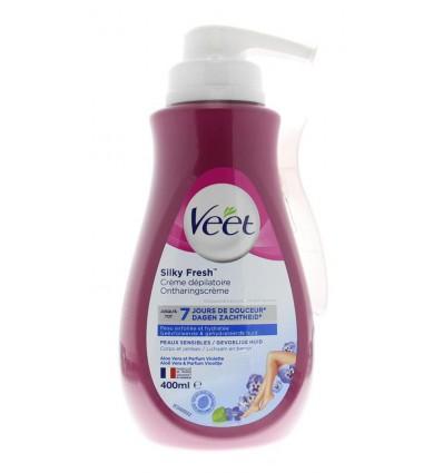 Ontharingsmiddelen Veet Ontharingscreme gevoelige huid pomp 400 ml kopen