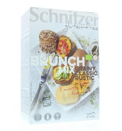 Schnitzer Brunch mix broodjes 2 x 4 stuks 200 gram |
