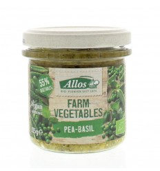 Allos Farm vegetables doperwten & basilicum 135 gram |
