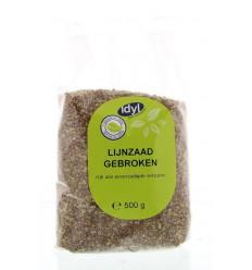 Idyl Lijnzaad gebroken 500 gram | Superfoodstore.nl